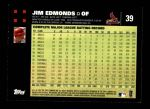 2007 Topps #39  Jim Edmonds  Back Thumbnail