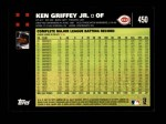 2007 Topps #450  Ken Griffey Jr.  Back Thumbnail