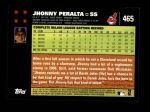 2007 Topps #465  Jhonny Peralta  Back Thumbnail