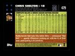 2007 Topps #479  Chris Shelton  Back Thumbnail