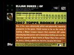2007 Topps #631  Elijah Dukes  Back Thumbnail