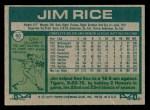 1977 Topps #60  Jim Rice  Back Thumbnail