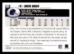 2004 Topps #181  Drew Brees  Back Thumbnail