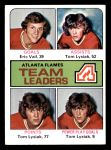 1975 Topps #313   -  Eric Vail / Tom Lysiak Flames Leaders Front Thumbnail