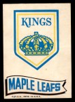 1973 Topps Team Emblem Sticker   Kings / Maple Leafs Front Thumbnail