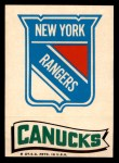 1973 Topps Team Emblem Sticker   Rangers / Canucks Front Thumbnail