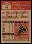 2002 Topps Heritage #88  Derrek Lee  Back Thumbnail