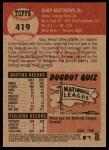 2002 Topps Heritage #419  Gary Matthews Jr.  Back Thumbnail
