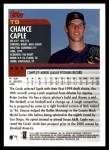2000 Topps Traded #9 T Chance Caple  Back Thumbnail