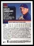 2000 Topps Traded #29 T Carlos Zambrano  Back Thumbnail