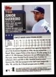 2000 Topps Traded #62 T Junior Guerrero  Back Thumbnail