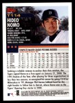 2000 Topps Traded #114 T Hideo Nomo  Back Thumbnail
