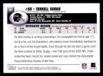 2004 Topps #62  Terrell Suggs  Back Thumbnail
