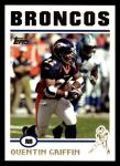 2004 Topps #158  Quentin Griffin  Front Thumbnail