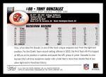 2004 Topps #176  Tony Gonzalez  Back Thumbnail