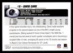 2004 Topps #215  David Carr  Back Thumbnail