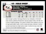 2004 Topps #381  Karlos Dansby  Back Thumbnail