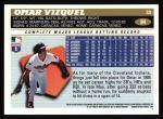 1996 Topps #84  Omar Vizquel  Back Thumbnail
