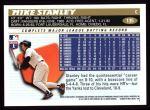 1996 Topps #135  Mike Stanley  Back Thumbnail