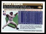 1996 Topps #155  John Franco  Back Thumbnail
