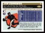 1996 Topps #171  Jim Edmonds  Back Thumbnail