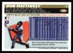 1996 Topps #185  Don Mattingly  Back Thumbnail