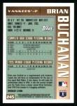 1996 Topps #245   -  Brian Buchanan Draft Pick Back Thumbnail