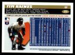 1996 Topps #272  Tim Raines  Back Thumbnail