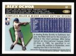 1996 Topps #339  Alex Ochoa  Back Thumbnail