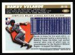 1996 Topps #361  Randy Velarde  Back Thumbnail