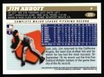 1996 Topps #372  Jim Abbott  Back Thumbnail