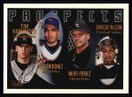 1996 Topps #427   -  Tim Harkrider / Rey Ordonez / Neifi Perez / Enrique Wilson Prospects Front Thumbnail
