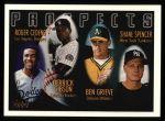 1996 Topps #436   -  Roger Cedeno / Derrick Gibson / Ben Grieve / Shane Spencer Prospects Front Thumbnail