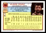 1992 Topps #32  Vlade Divac  Back Thumbnail