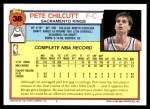 1992 Topps #38  Pete Chilcutt  Back Thumbnail