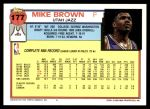 1992 Topps #177  Mike Brown  Back Thumbnail