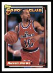 1992 Topps #206   -  Michael Adams 50 Point Club Front Thumbnail