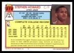 1992 Topps #272  Stephen Howard  Back Thumbnail