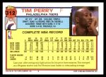 1992 Topps #312  Tim Perry  Back Thumbnail