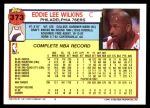 1992 Topps #373  Eddie Lee Wilkins  Back Thumbnail