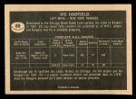 1967 Topps #88  Vic Hadfield  Back Thumbnail