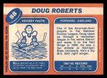 1968 Topps #88  Doug Roberts  Back Thumbnail