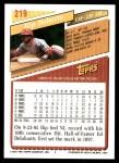 1993 Topps #219  Bip Roberts  Back Thumbnail