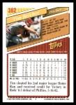 1993 Topps #382  Tim Belcher  Back Thumbnail