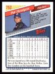 1993 Topps #752  Pat Hentgen  Back Thumbnail