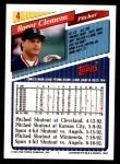 1993 Topps #4  Roger Clemens  Back Thumbnail