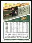 1993 Topps #73  Mike Moore  Back Thumbnail