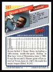 1993 Topps #387  Devon White  Back Thumbnail