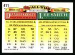 1993 Topps #411   -  Lee Smith  / Dennis Eckersley All-Star Back Thumbnail
