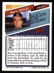 1993 Topps #571  Dave Mlicki  Back Thumbnail